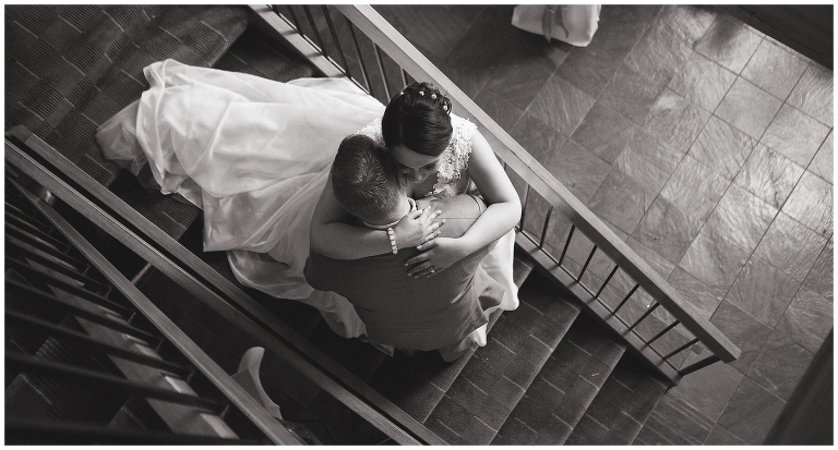 staircase wedding photos
